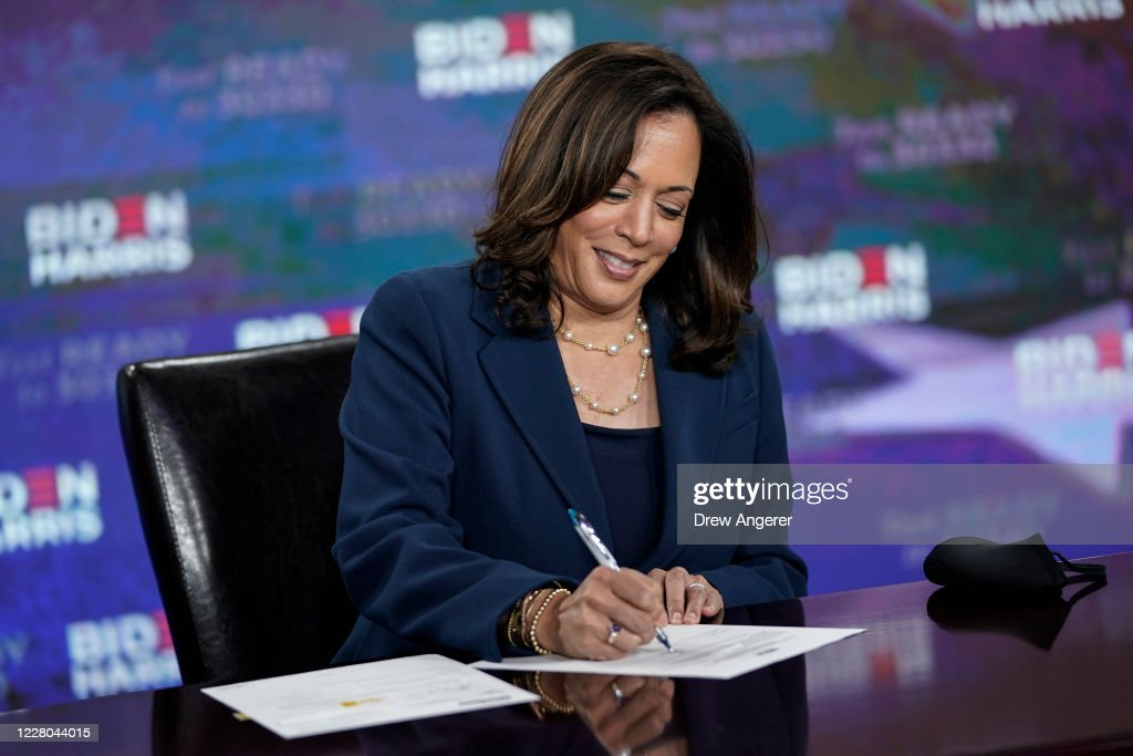 Presidential Candidate Joe Biden And Running Mate Kamala Harris Hold Campaign Event In Delaware : News Photo