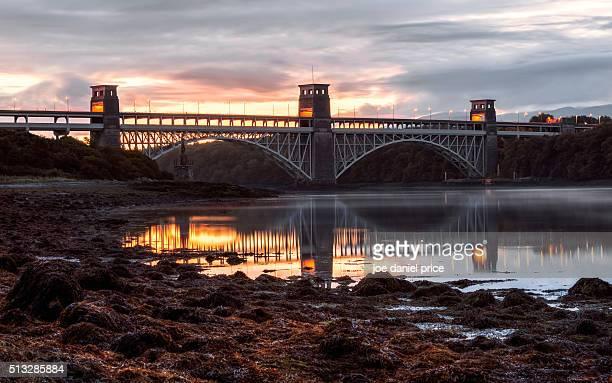 Pre-Sunrise, Britannia Bridge, Anglesey, Wales