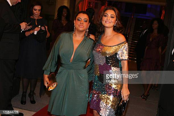 Preta Gil and Juliana Paes during Mario Testino Receives from the Legislative Assembly of the State of Rio the Tiradentes Medal at Copacabana Palace...