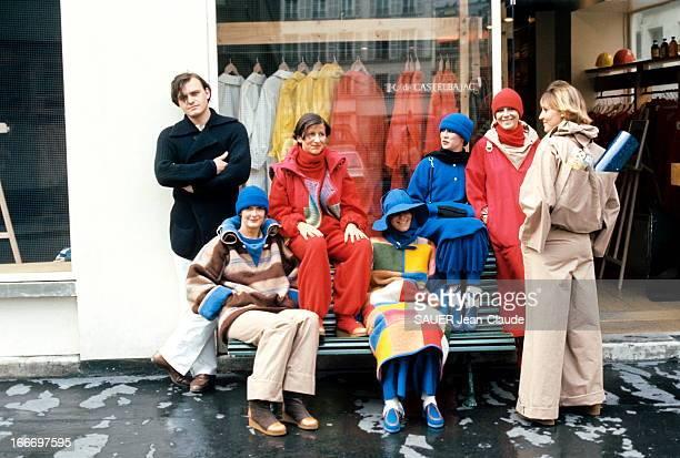 JeanCharles De Castelbajac Presents His Winter Collection Paris Juillet 1976 Le styliste JeanCharles DE CASTELBAJAC présente ses six derniers modèles...