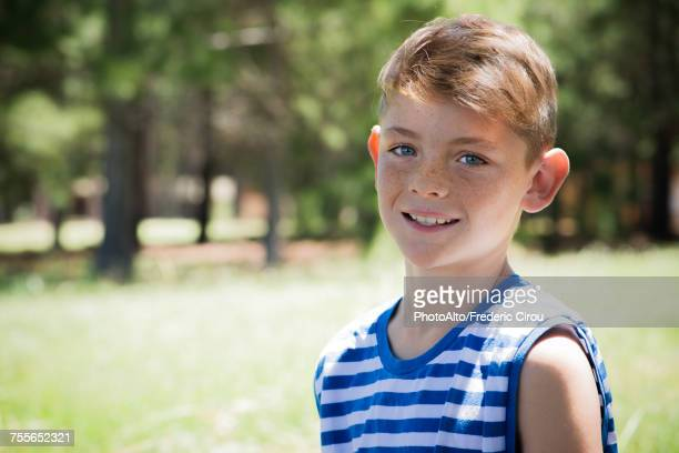 preteen boy, portrait - freckle stock photos and pictures