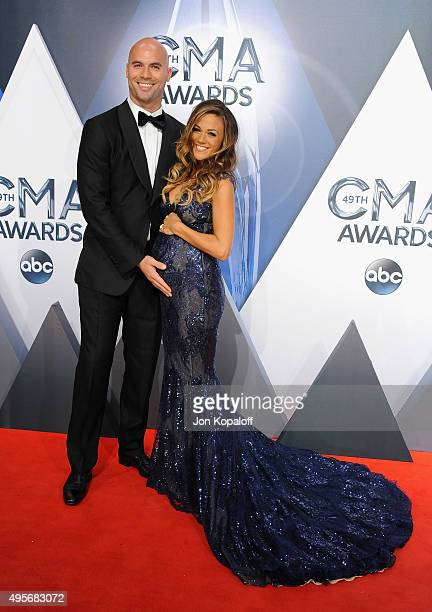 Pretelecast host and Musician Jana Kramer and husband former NFL player Michael Caussin attend the 49th annual CMA Awards at the Bridgestone Arena on...