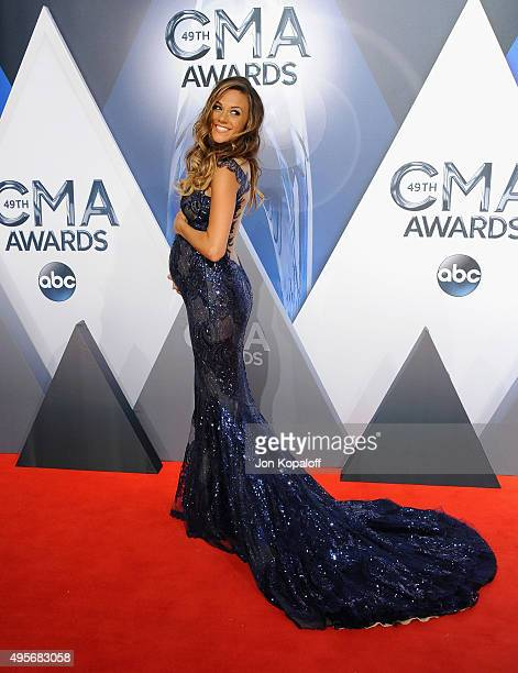 Pretelecast host and Musician Jana Kramer attends the 49th annual CMA Awards at the Bridgestone Arena on November 4 2015 in Nashville Tennessee