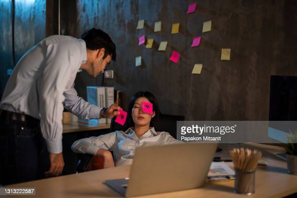 pretend your friends are working overtime in the office. - teasing stock pictures, royalty-free photos & images