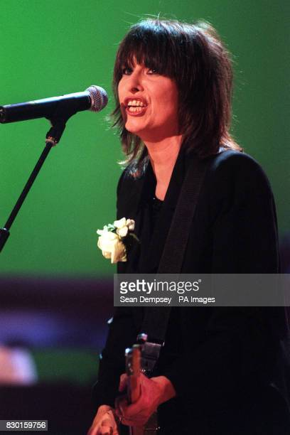 Pretenders singer Chrissie Hynde performs during 'Here There and Everywhere a Concert for Linda McCartney' at London's Royal Albert Hall