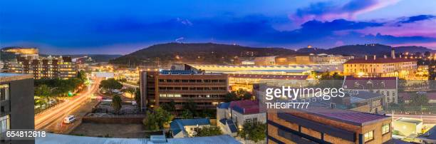 pretoria evening cityscape with unisa and monuments - tshwane stock pictures, royalty-free photos & images