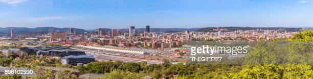 pretoria panoramic cityscape with the union buildings - pretoria stock pictures, royalty-free photos & images