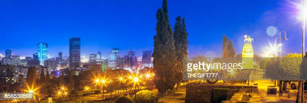 pretoria / tshwane panorama at the union buildings - pretoria stock pictures, royalty-free photos & images