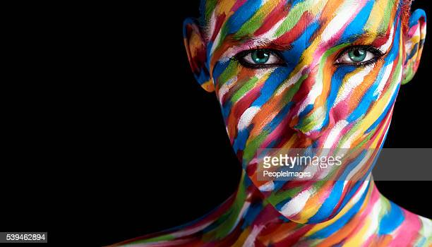 prettier than any painting - body paint stock pictures, royalty-free photos & images