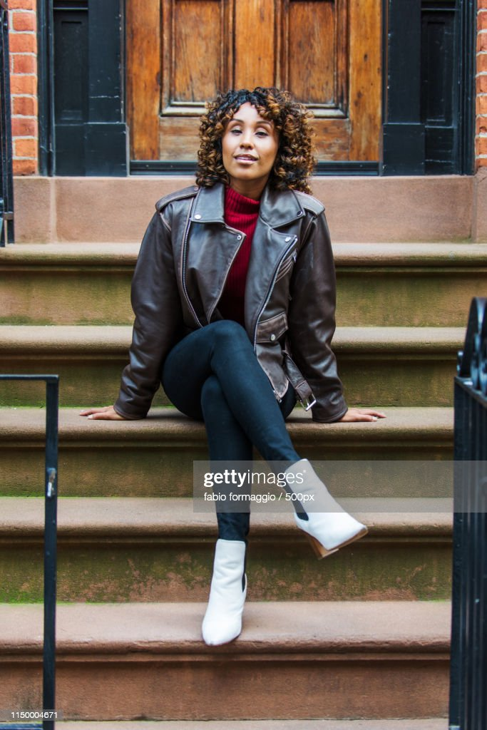 Pretty African American Girl In New York : Stock Photo