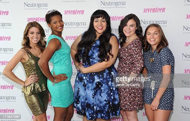 Pretty Amazing Finalists Paige Rawl KayCi Bele Ant RomanStacey Ferreira and Paige McKenzie attend Seventeen Magazine Luncheon Honoring Pretty Amazing...