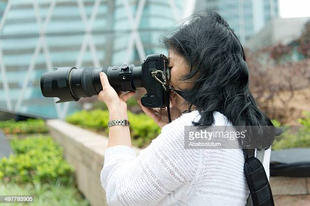 Pretty Asian Female Photographer in Hong Kong, Asia