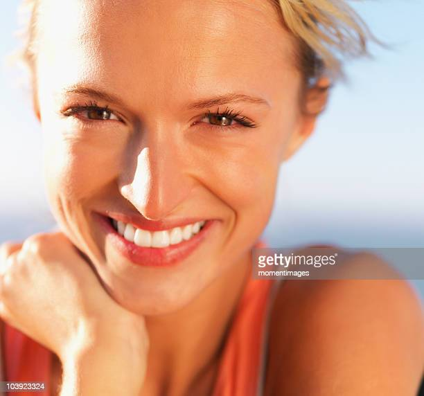 pretty blond woman - woman flashing stock photos and pictures
