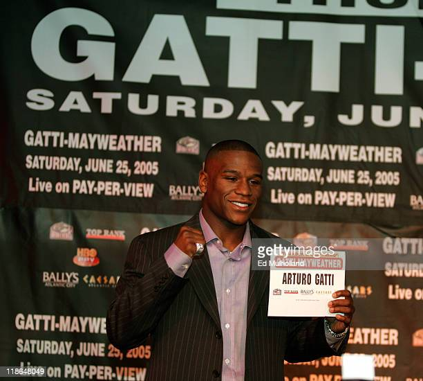Pretty Boy Floyd Mayweather mocks Arturo Gatti for not showin up at a press conference at The Copacabana announcing their June 25 2005 superfighti...