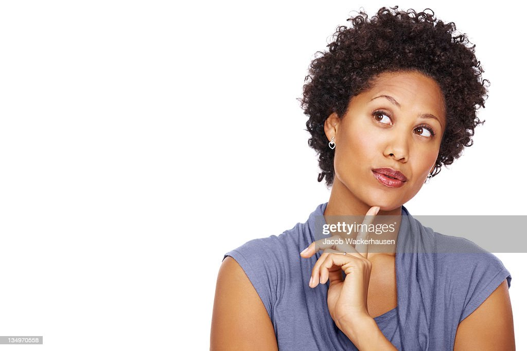 Pretty business woman daydreaming : Stock Photo