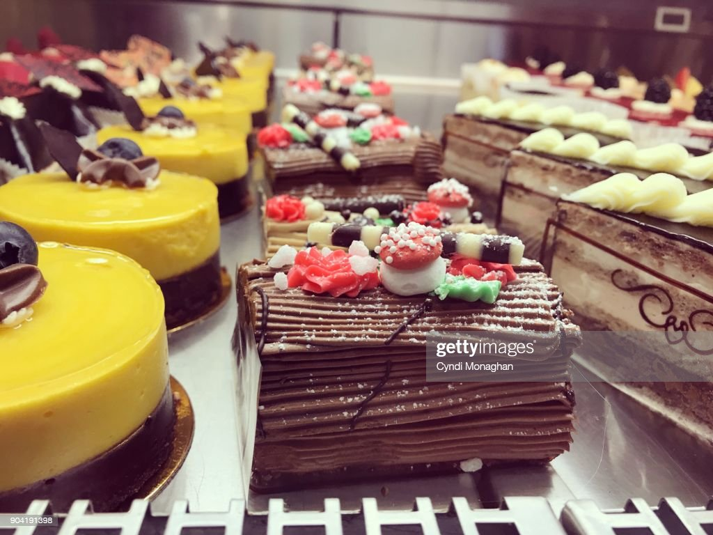 Pretty Cakes in a Shop : Stock Photo