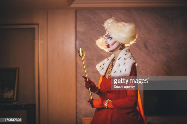 pretty drag queen in dress - drag queen stock photos and pictures