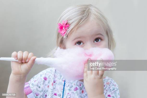Pretty Eating Pink Cotton Candy