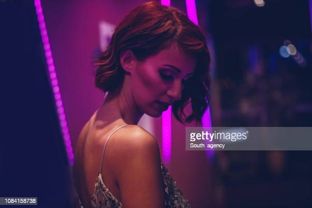 pretty elegant woman - sequin dress stock pictures, royalty-free photos & images