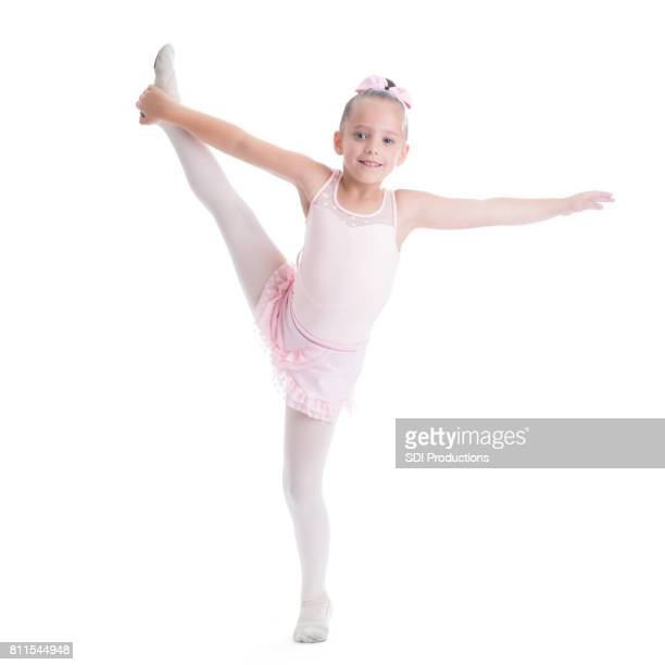 pretty elementary age ballerina - little girls dressed up wearing pantyhose stock photos and pictures