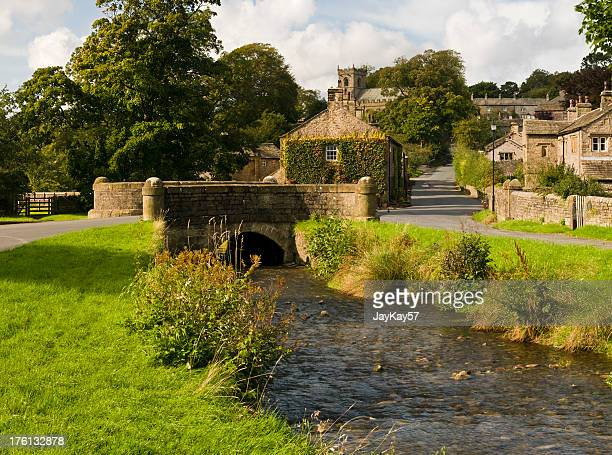 pretty english village - lancashire stock pictures, royalty-free photos & images
