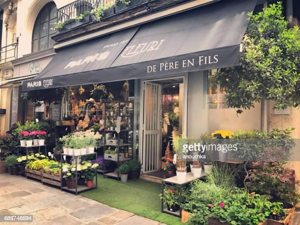 Pretty Flower shop in Paris, France