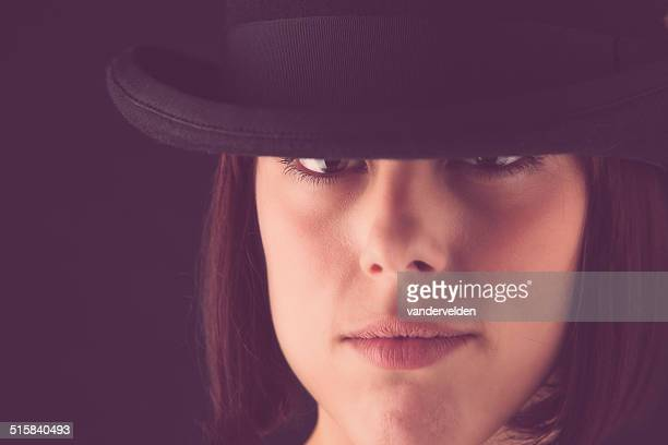 Pretty Girl In A Bowler Hat