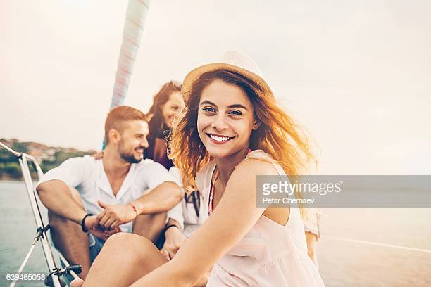 pretty girl in the sea - stereotypically upper class stock pictures, royalty-free photos & images