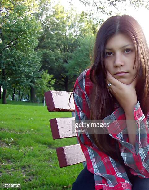 pretty girl - thinking - sioux culture stock pictures, royalty-free photos & images