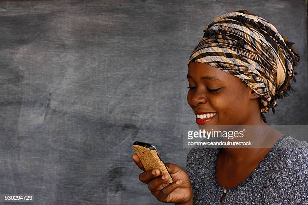 A pretty girl with a mobile phone