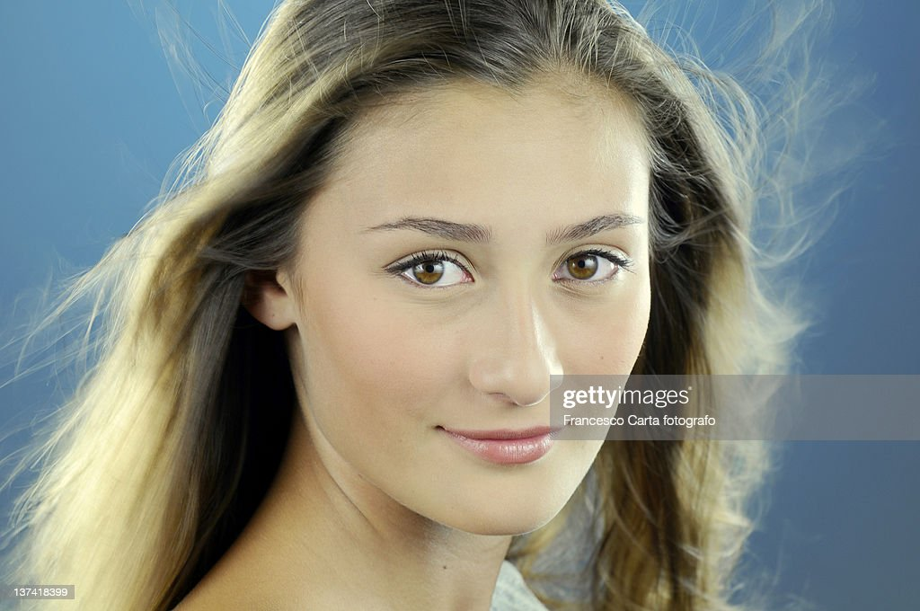 Pretty girl with long hair : Stock Photo