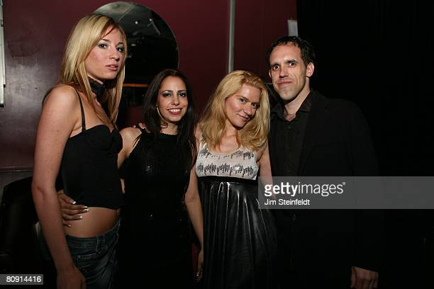 Pretty girls and their manager hang out at the Sextus concert Kelly Norris/Model Milka Munoz/Actress Moira Cue/Singer Bruce Edwin/ProducerManager at...