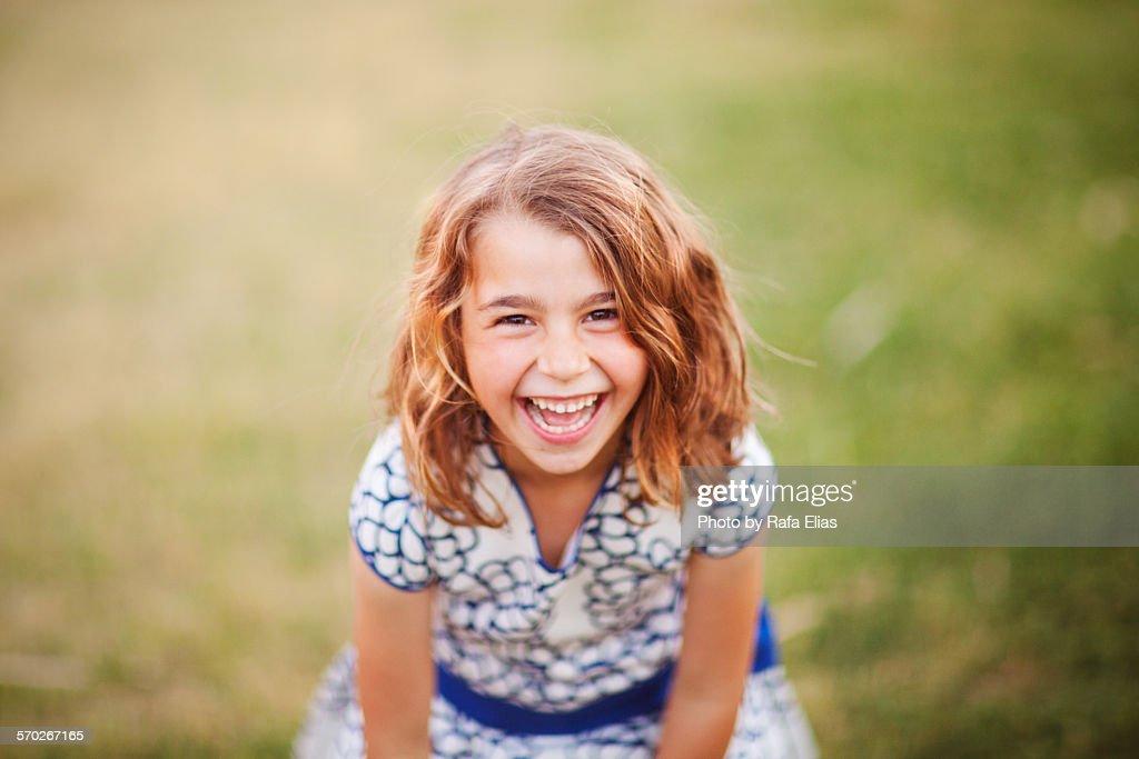 Pretty happy little girl : Foto stock