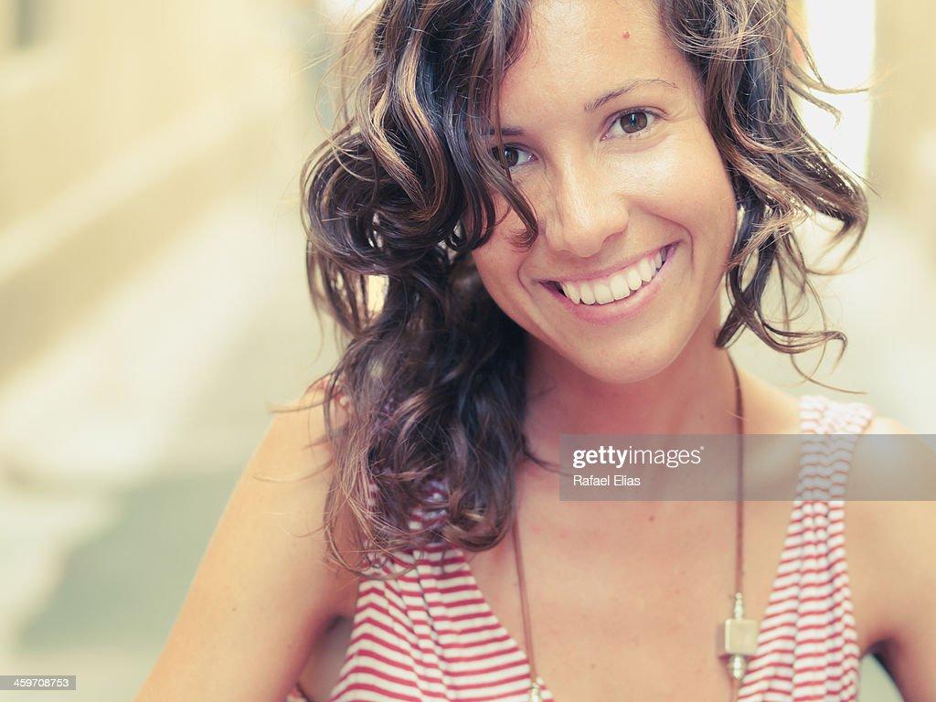 Pretty happy woman : Stock Photo