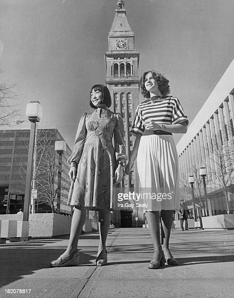 JAN 26 1977 JAN 31 1977 FEB 6 1977 Pretty ideas in new dresses include a shimmery polyester dress of Chinese red with inset waist left and winner's...