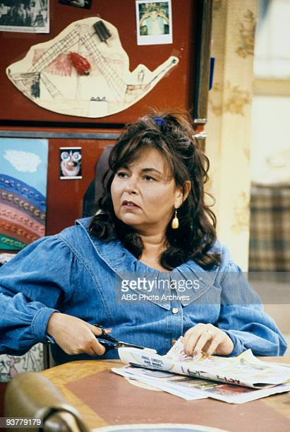 ROSEANNE 'Pretty in Black' Season Five 10/13/92 Roseanne Barr on the ABC Television Network comedy 'Roseanne' Darlene's 16th birthday sees new...