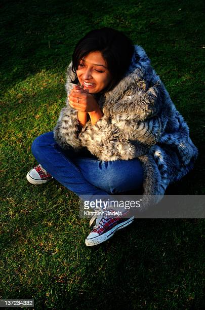 Pretty Indian Woman Enjoying The First Sun Rays