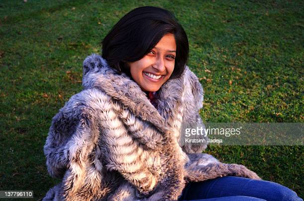 Pretty Indian Woman Smiling Sweetly