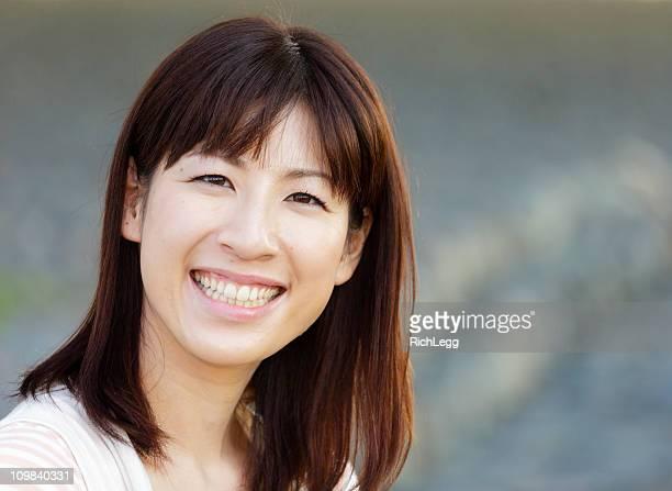 美しい日本の女性屋外
