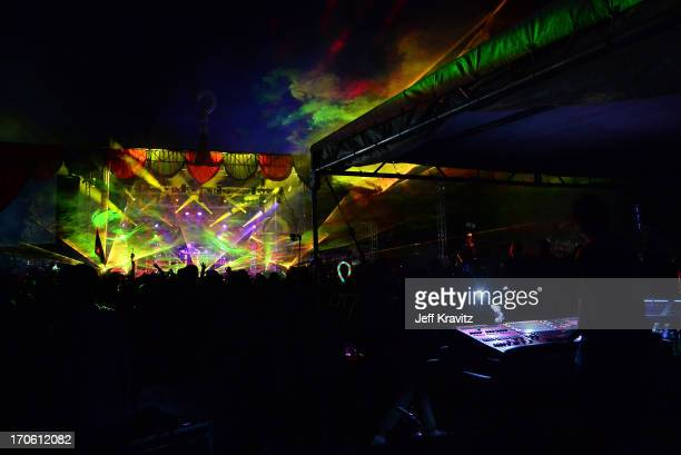 Pretty Lights performs onstage at Which Stage during day 2 of the 2013 Bonnaroo Music Arts Festival on June 14 2013 in Manchester Tennessee