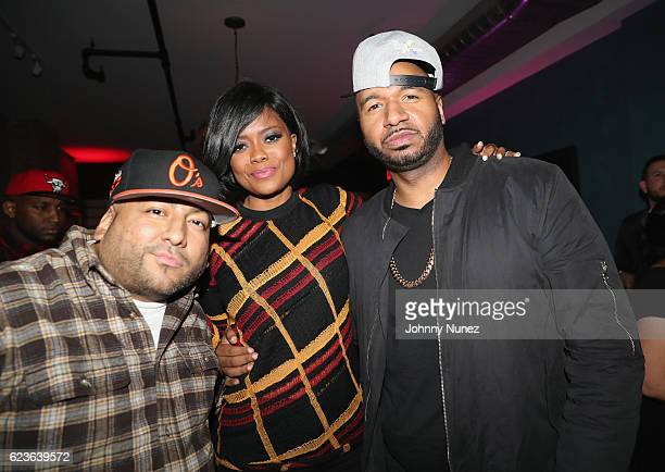 Pretty Lou Karen Civil and DJ Suss One attend DJ Suss One Birthday Celebration at The Loft on November 15 2016 in New York City