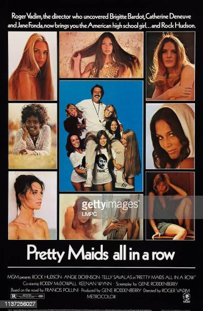 Pretty Maids All In A Row poster US poster art center Joanna Cameron June Fairchild Margaret Markov Brenda Sykes Rock Hudson Aimee Eccles Joy Bang...