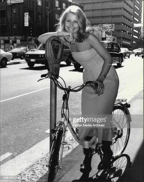 Pretty meter maidMiss Australia Gloria Krope pictured in William St City on a new Toyosha deluxe bike from York Toyota City Miss Krope was at the car...