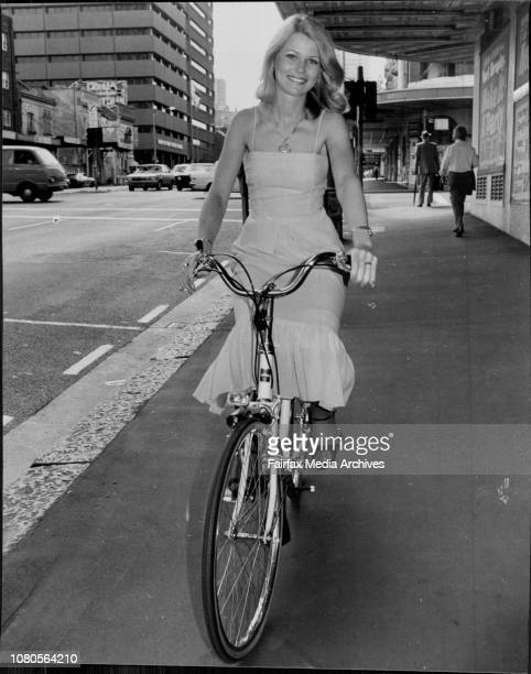 Pretty meter raidMiss Australia Gloria Krope pictured in William St City on a new Toyosha deluxe bike from York Toyota City Miss Krope was at the car...