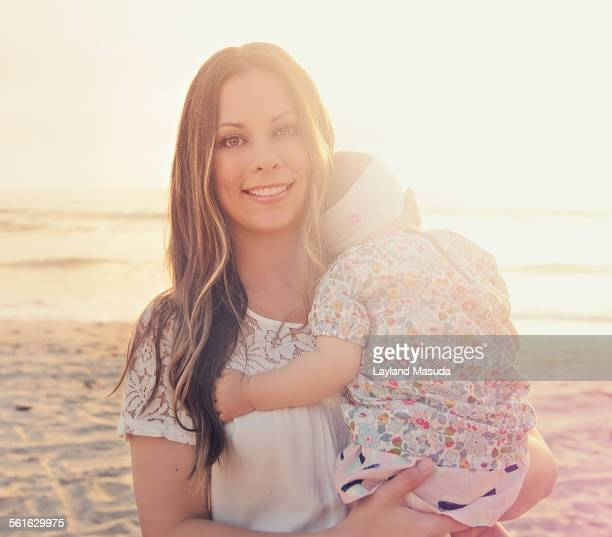 Pretty mom with baby