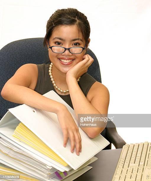 Hübsche Büroberuf