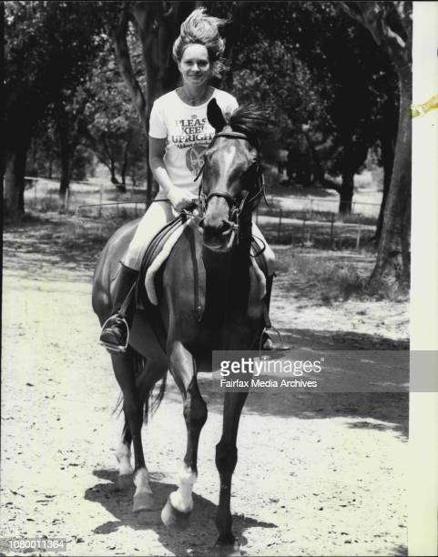 Pretty Penny Lyons of Darling Point is and avid horse rider Penny is seen here exercising her 8yr old gelding 'Teddy' an exrace horse called 'Valley...