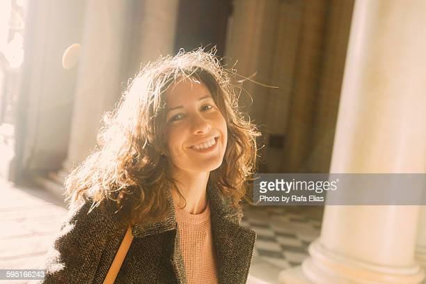 Pretty smiling woman
