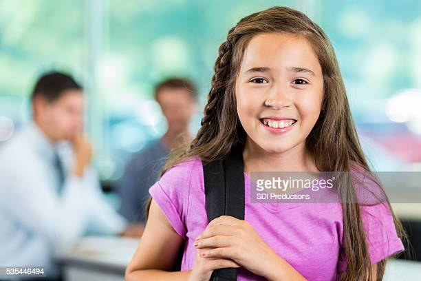 Pretty Student ready for class