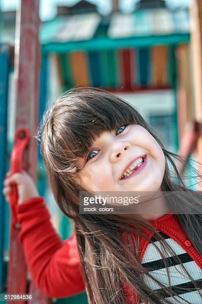 Hübsche, zahnlosen Mädchen Porträt